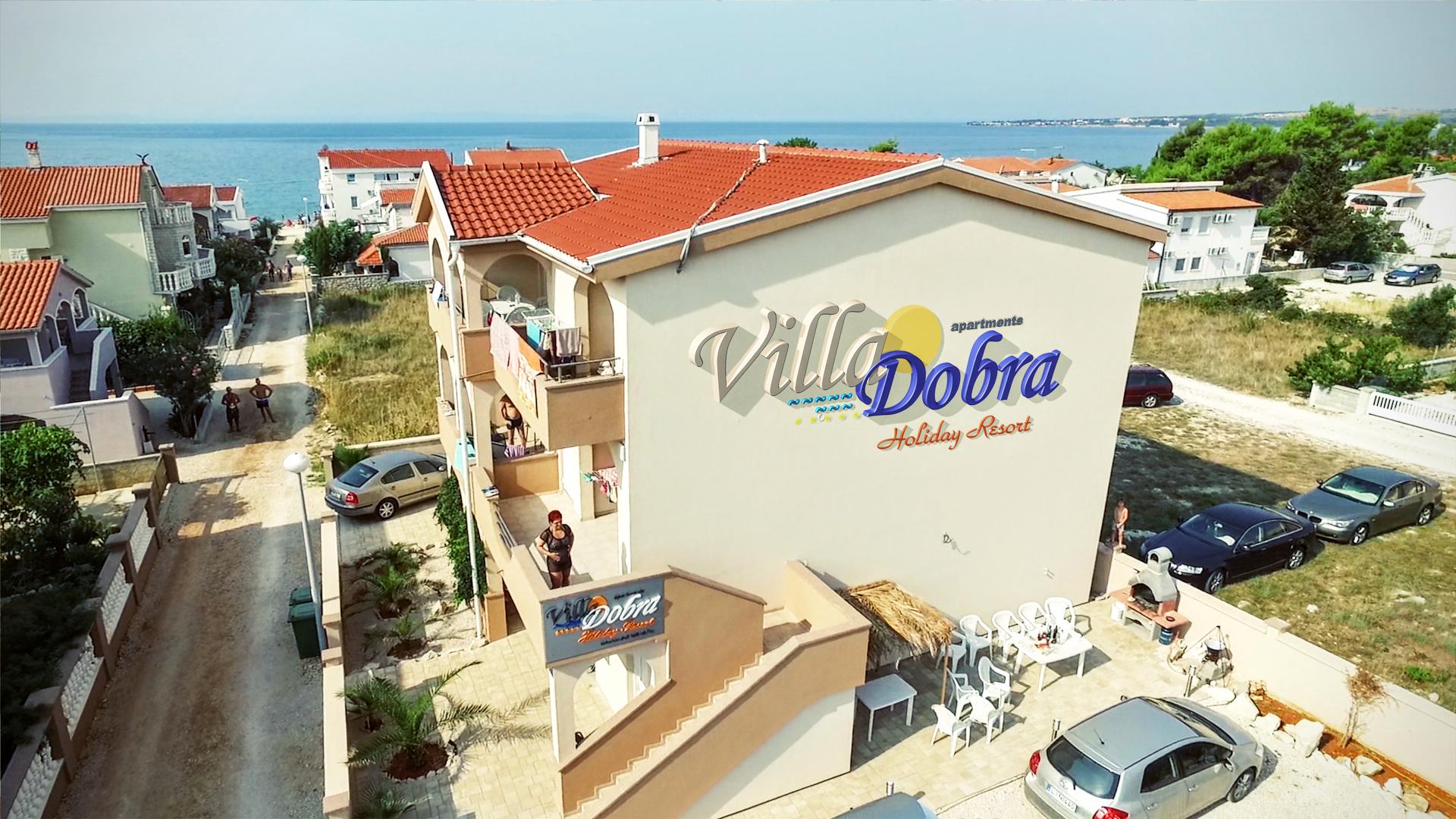 Villa Dobra Holiday Apartmanház Vir sziget céli oldalán